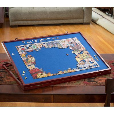Jumbo Size Wooden Puzzle Plateau Smooth Fiberboard Work Surface