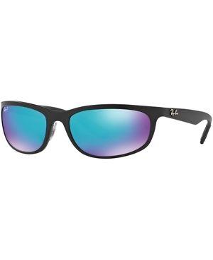 2f43bf6db0 Ray-Ban Mens Chromance Sunglasses (RB4265) Black Matte Blue Plastic -  Polarized - 62mm