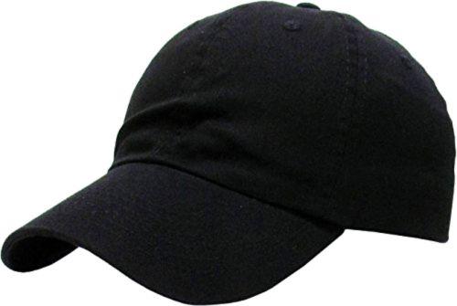 abfc8a703 KB-Low BLK Classic Cotton Dad Hat Adjustable Plain Cap. Polo Style ...