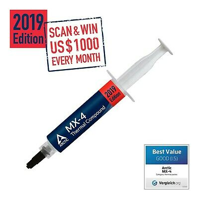 ARCTIC MX-4 2019 Edition - Thermal Compound Paste - Carbon Based High Performance - Heatsink Paste - Thermal Compound CPU for All Coolers, Thermal Interface Material - High Durability - 20 Grams