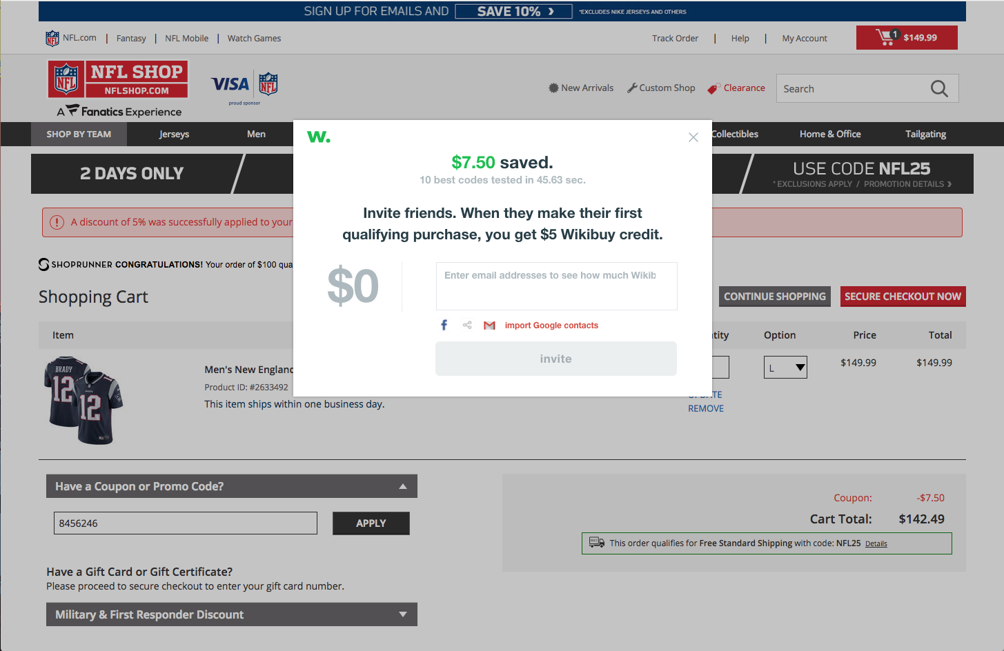 932f341c142 While you browse at NFL Shop (or any other major online retailer), Wikibuy  goes to work in the background to instantly find and try working coupon  codes at ...